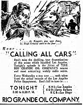 Newspaper Ad for Calling All Cars