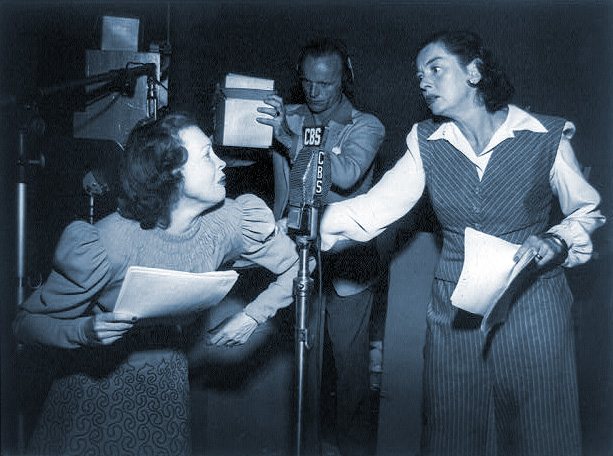 "Lurene Tuttle & Rosalind Russell portray ""The Sisters"""